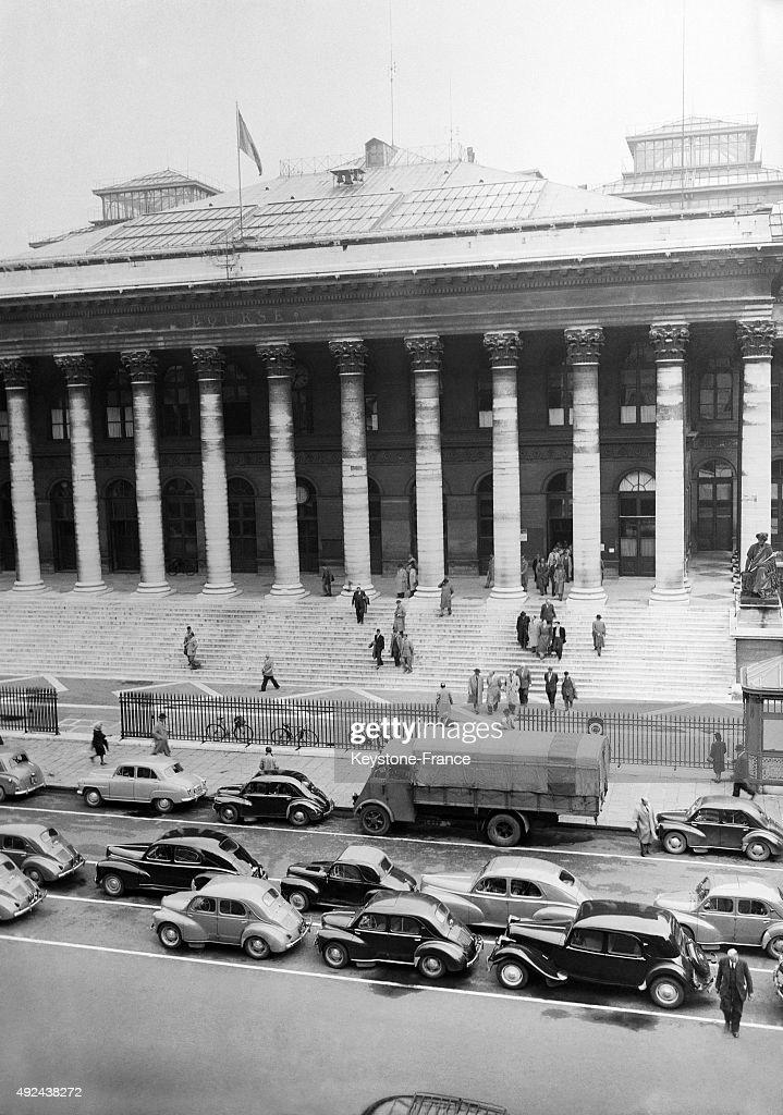 View Of The Place De La Bourse 1953 In Paris France News Photo
