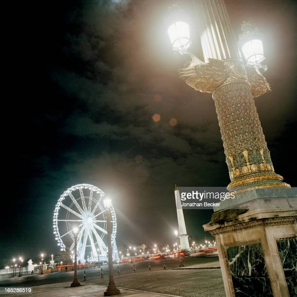 View of the Place de la Concorde from the Hotel de Crillon is photographed at the Crillon Debutante Ball for Vanity Fair Magazine on November 22,...