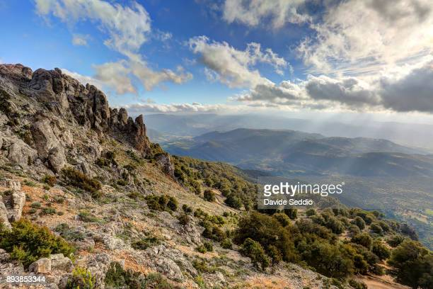 View of the plain from the path to the top of the mountain 'Punta Corrasi'