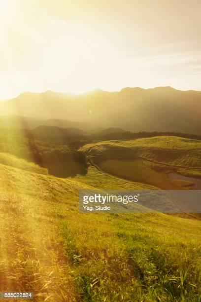 日本で曽爾高原高原のビュー - 台地 ストックフォトと画像
