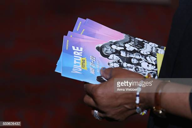 A view of the playbill during Vulture Festival presents Sarah Silverman Friends at BAM on May 22 2016 in New York City