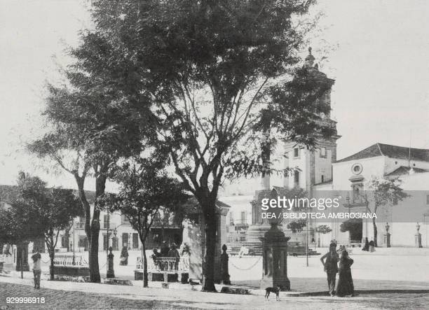 View of the Plaza Alta in Algeciras Spain photo by Jose Martin from L'illustrazione Italiana Year XXXII No 46 November 12 1905
