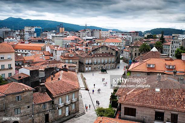 view of the pontevedra city - pontevedra province stock photos and pictures