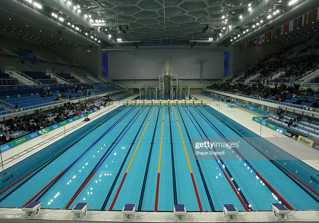 a view of the pool area during the good luck beijing world swimming china olympic
