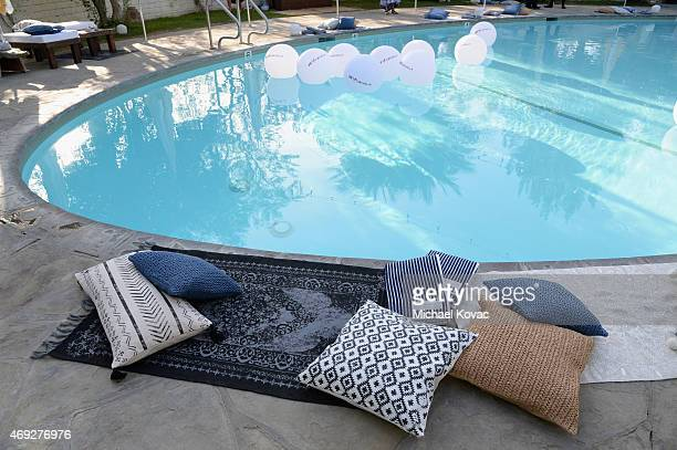 A view of the pool during the Official HM Loves Coachella Party at the Parker Palm Springs on April 10 2015 in Palm Springs California