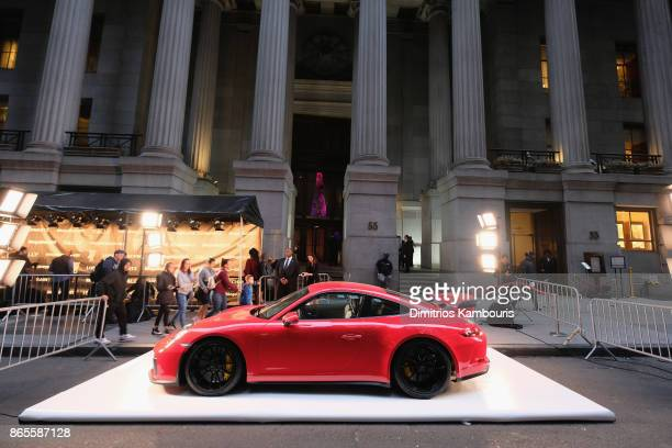 A view of the Porsche 911 GT3 available for auction at Gabrielle's Angel Foundation's Angel Ball 2017 at Cipriani Wall Street on October 23 2017 in...