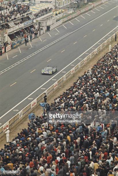 View of the Porsche 917L Porsche 45L Flat12 racing car driven by Gerard Larrousse and Willi Kauhsen for Martini Racing Team to finish in 2nd place...