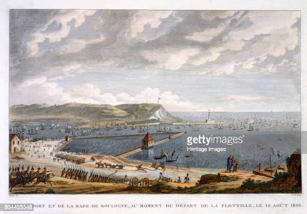 View of the Port and the Roadstead of Boulogne at the Departure of the Flotilla 16 August 1803' Artist Louis Francois Couche