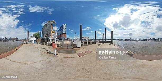 360° View of the port of Hamburg, Germany.