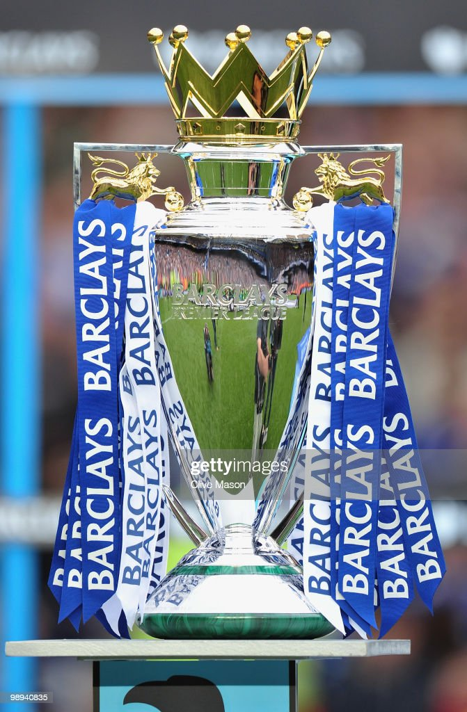 A view of the Premier League trophy after the Barclays Premier League match between Chelsea and Wigan Athletic at Stamford Bridge on May 9, 2010 in London, England. Chelsea won 8-0 to win the championship.