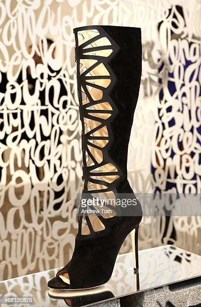 A view of the presentation during the Alejandro Ingelmo presentation during New York Fashion Week Fall 2014 at Robert Miller Gallery on February 9...