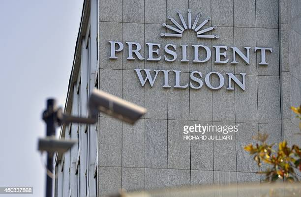 View of the President Wilson hotel on June 9 2014 Officials from IranUSand EU are in talks in Geneva about Iran's nuclear activitiesThis hotel is...