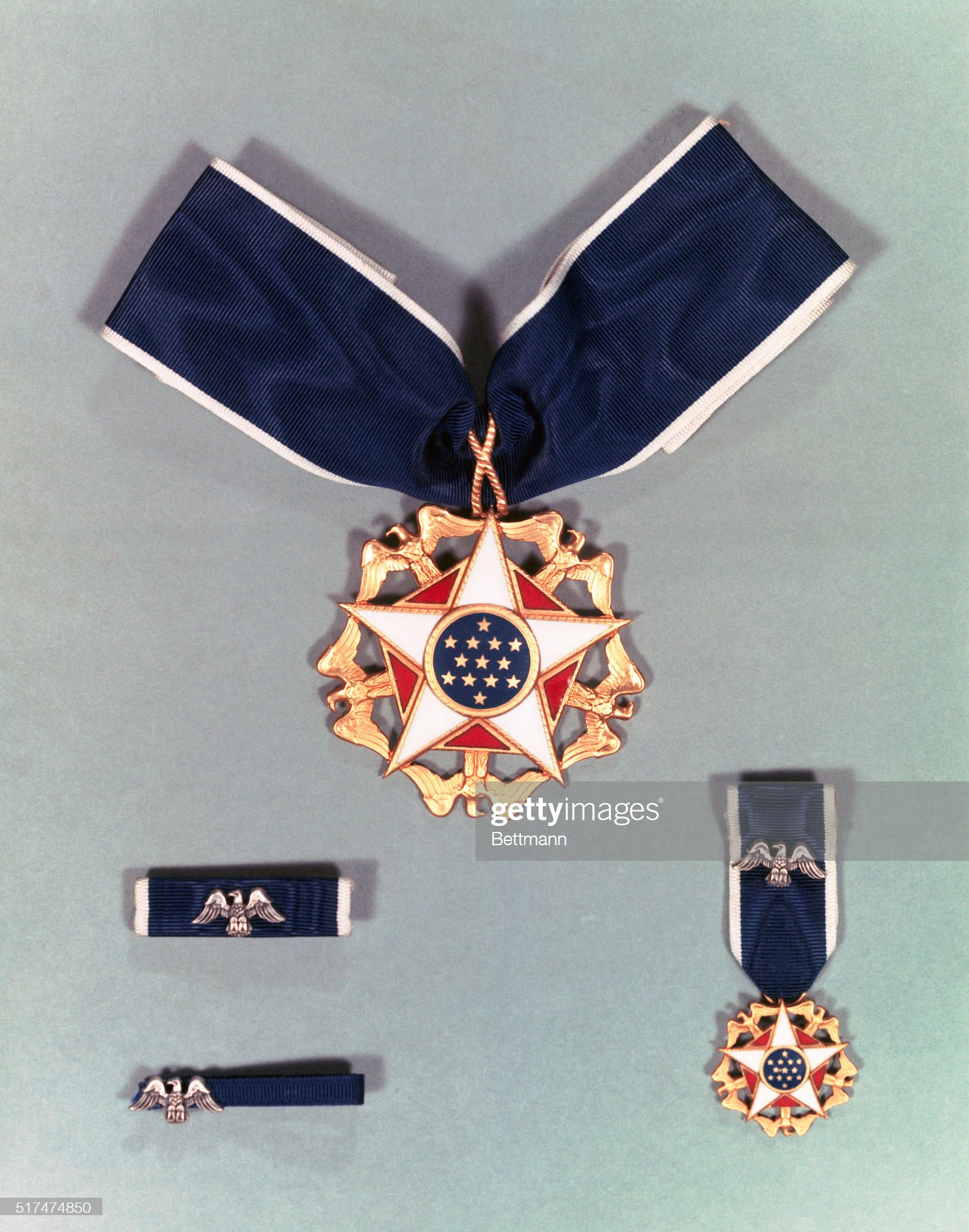 View of Presidential Medal of Freedom : News Photo