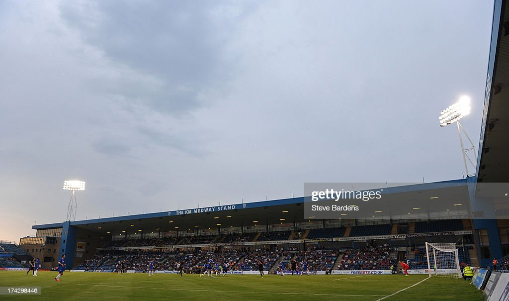 A View of the Priestfield Stadium during the pre season friendly match between Gillingham and Crystal Palace at Priestfield Stadium on July 23, 2013 in Gillingham, Medway.