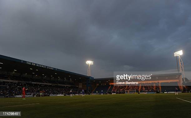 View of the Priestfield Stadium during the pre season friendly match between Gillingham and Crystal Palace at Priestfield Stadium on July 23 2013 in...