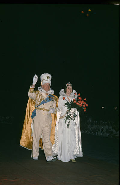 A view of the Prime Minister after coronation during the StPaul Winter Carnival in StPaulMinnesota