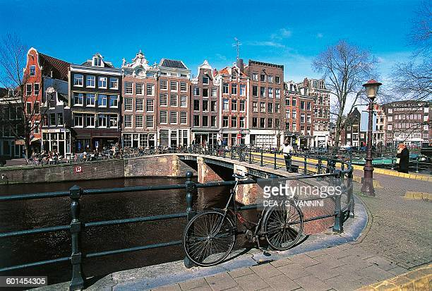 View of the Prinsengracht Jordaan Amsterdam Netherlands