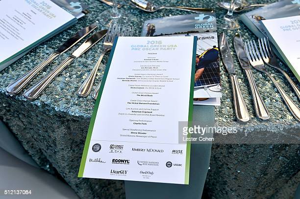 A view of the program at Global Green USA's 13th annual preOscar party at Mr C Beverly Hills on February 24 2016 in Los Angeles California