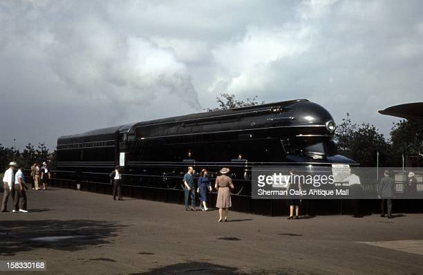 A view of the PRR S1 class steam locomotive on display at the 1939 New York World's Fair in Flushing Meadows Queens New York City New York
