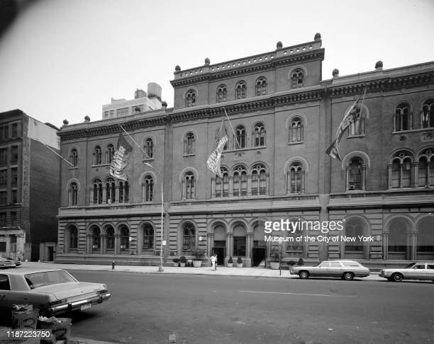 View of the Public Theater at 425 Lafayette Street, New York, New York, circa 1977.