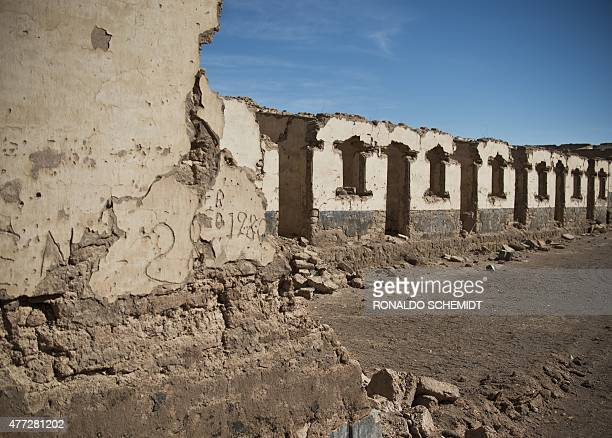 A view of the Puelma nitrate camp in the outskirts of Antofagasta Chile on June 15 2015 The history of the nitrate came to an end in 1930 when the...
