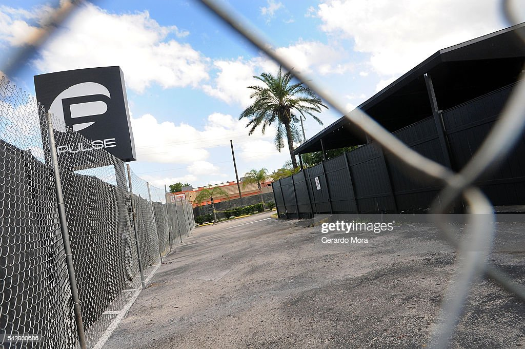 A view of the Pulse nightclub main entrance on June 21, 2016 in Orlando, Florida. The Orlando community continues to mourn the victims of the deadly mass shooting at a gay nightclub.