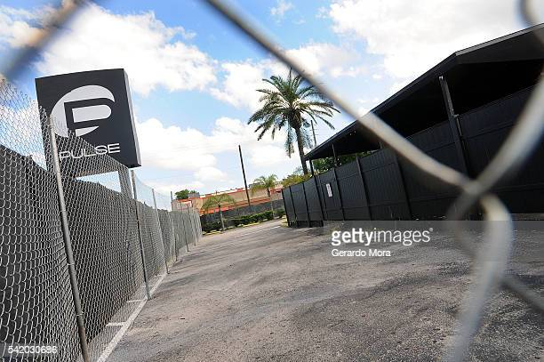 A view of the Pulse nightclub main entrance on June 21 2016 in Orlando Florida The Orlando community continues to mourn the victims of the deadly...