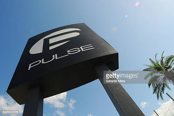 A view of the Pulse Nightclub sign on June 21 2016 in Orlando Florida Orlando community continues to mourn deadly mass shooting at gay club The...