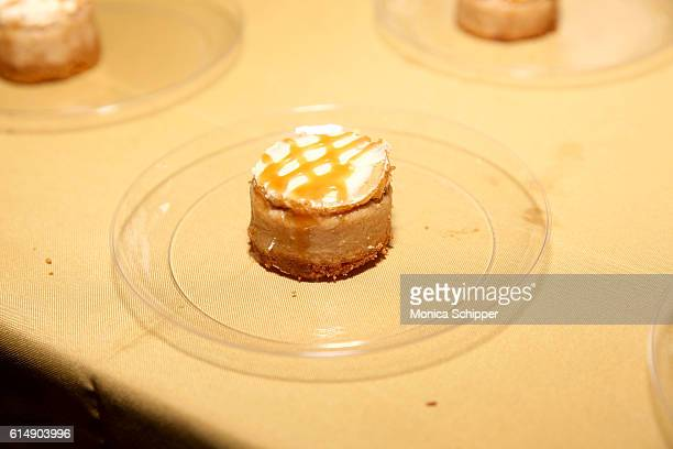 A view of the Pumpkin Infused Caramel Cheesecake prepared by Chef Thomas Perone at Harvest Party hosted by Katie Lee and Marcela Valladolid part of...