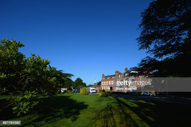 View of the putting green and club house at Bush Hill Park Golf Club on June 19, 2017 in Enfield, England.