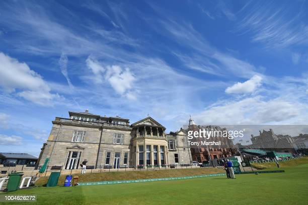 View of The R and A Clubhouse during the Rolex ProAm ahead of The Senior Open presented by Rolex at The Old Course on July 24, 2018 in St Andrews,...