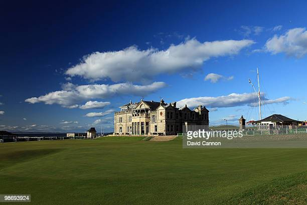 A view of the RA Clubhouse and the 18th green on the Old Course as a preview for the 2010 Open Championship to be held on the Old Course at St...