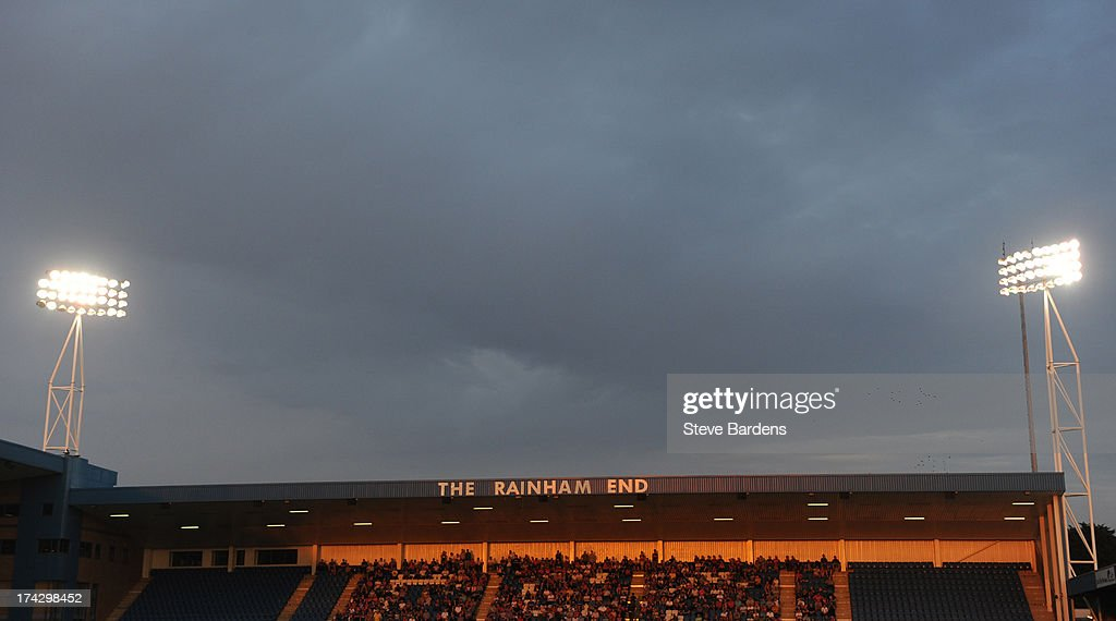 A View of the Rainham End at the Priestfield Stadium during the pre season friendly match between Gillingham and Crystal Palace at Priestfield Stadium on July 23, 2013 in Gillingham, Medway.