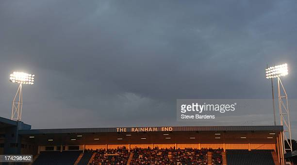 View of the Rainham End at the Priestfield Stadium during the pre season friendly match between Gillingham and Crystal Palace at Priestfield Stadium...