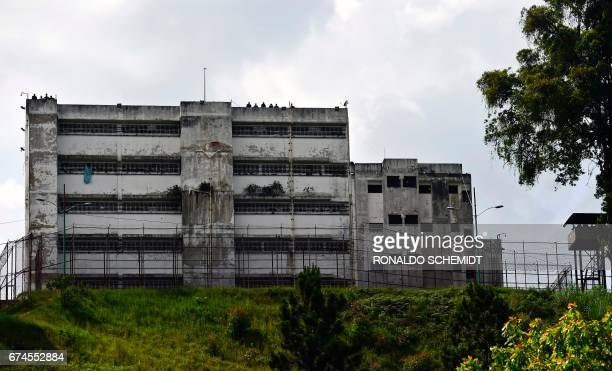 A view of the Ramo Verde penitentiary in Los Teques 30 km east of Caracas where opposition leader Leopoldo Lopez is imprisoned on April 28 2017...