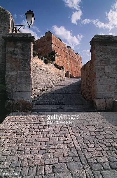 A view of the ramparts in Bonifacio Corsica France