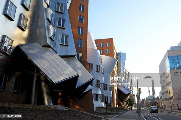 A view of the Ray and Maria Stata Center on the campus of Massachusetts Institute of Technology on March 31 2020 in Cambridge Massachusetts Students...