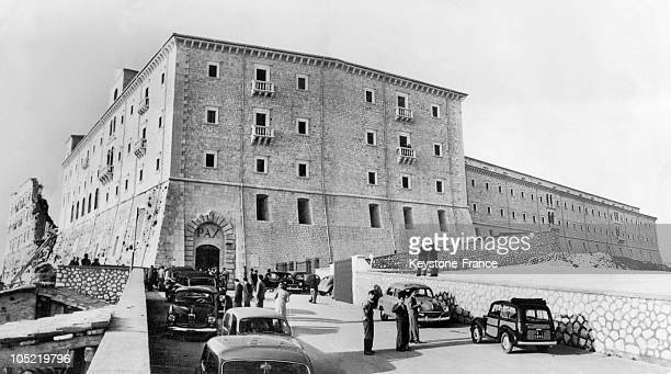 View Of The Reconstruction Of The Abbey Of Monte Cassino In Cassino Italy On May 6 1954The Destruction Of This Abbey By The Allied Bombing Of...