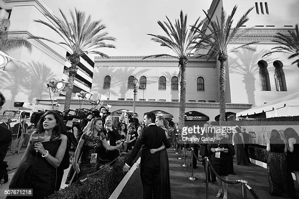 A view of the red carpet at The 22nd Annual Screen Actors Guild Awards at The Shrine Auditorium on January 30 2016 in Los Angeles California 25650_020