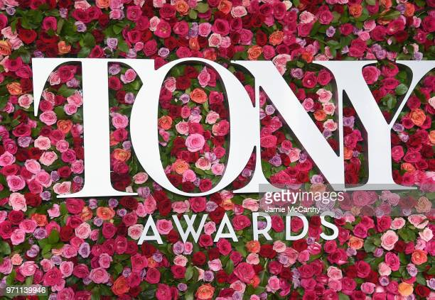 A view of the red carpet during the 72nd Annual Tony Awards at Radio City Music Hall on June 10 2018 in New York City