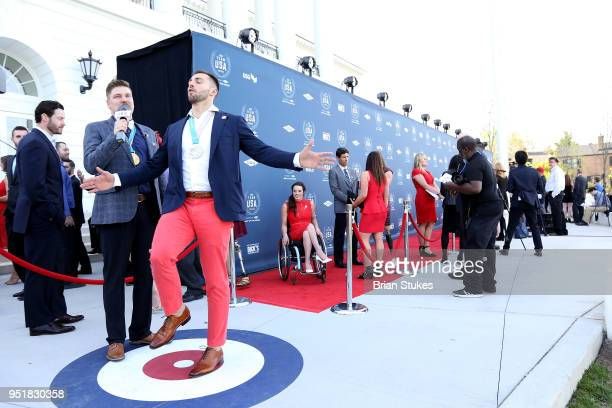 A view of the red carpet during the Team USA Awards at the Duke Ellington School of the Arts on April 26 2018 in Washington DC