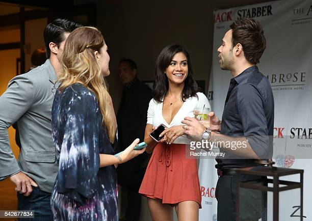 A view of the red carpet premiere party for the new Amazon series 'Back Stabber' at the Ambrose Boutique Hotel on June 23 2016 in Santa Monica...