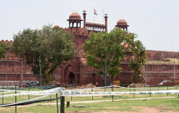 IND: Preparations Begin For Independence Day 2020 At Red Fort Complex