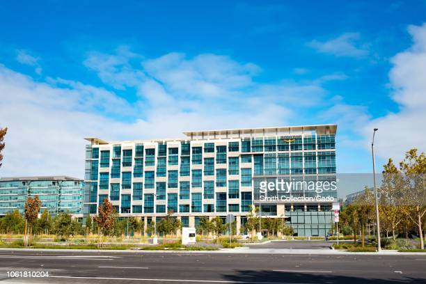 View of the regional headquarters of ecommerce company Amazon in the Silicon Valley town of Sunnyvale California on a sunny day October 28 2018