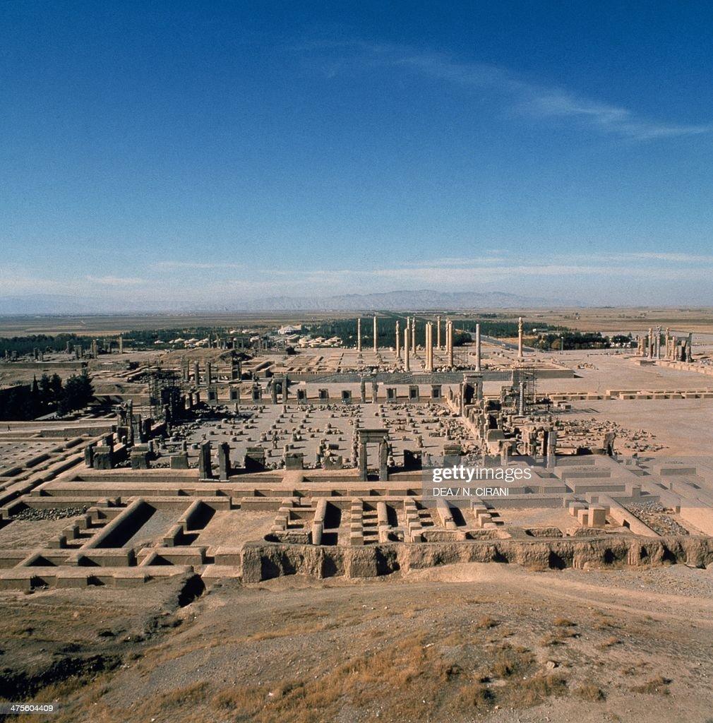 View Of The Remains Of Persepolis Iran Achaemenid Civilisation Foto Di Attualita Getty Images