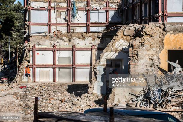 View of the remnants of a house in the municipality of Amatrice, Italy, on 24 December 2017. The region has been hit by several earthquakes since 24...