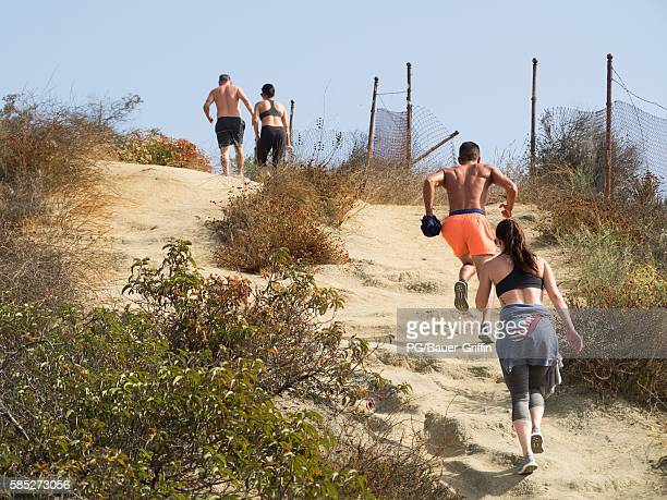 A view of the reopening of Runyon Canyon in Hollywood on August 02 2016 in Los Angeles California