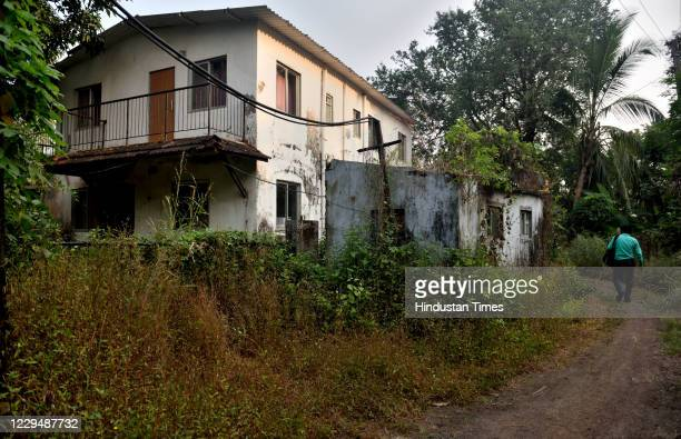 A view of the residence of interior designer Anvay Naik who allegedly killed himself in 2018 and named Republic TV EditorInChief Arnab Goswami and...