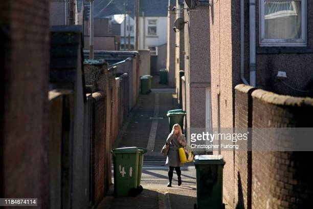 View of the residential back alleys in Workington after a political think tank declared that politicians need to win the vote of 'Workington Man' in...