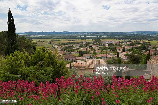 View of the Rhone River valley